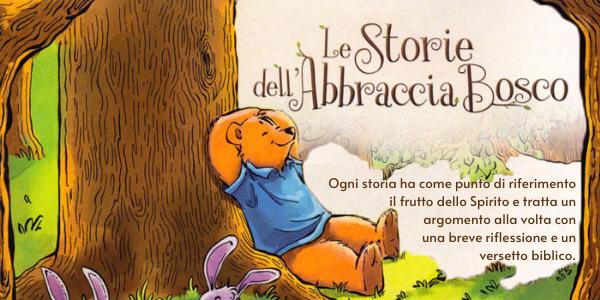 Promozione del libro per bambini Le storie dell'Abbraccia Bosco