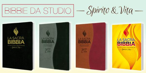 Bibbie da studio Spirito e Vita in quattro modelli