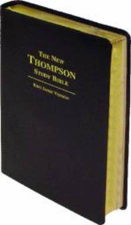 The New Thompson Study Bible KJV - Black Bonded Leather