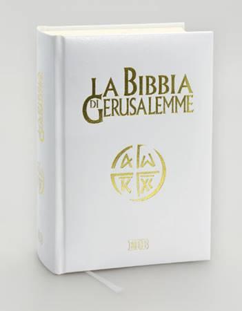 La Bibbia di Gerusalemme in similpelle bianca (Pelle)