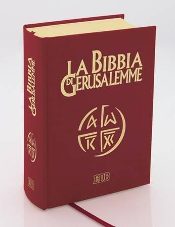 La Bibbia di Gerusalemme Versione in pelle con taglio oro tascabile (Pelle)