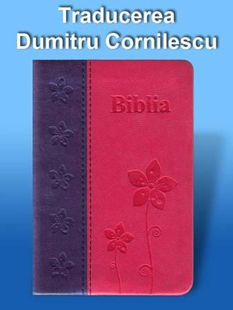 Bibbia in Rumeno tascabile in pelle Viola e Fucsia - Dumitru Cornilescu (Pelle)
