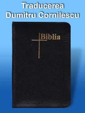 Bibbia in Rumeno tascabile in pelle Nera con Cerniera - Dumitru Cornilescu (Pelle)