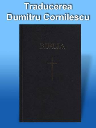 Bibbia in Rumeno tascabile rilegatura rigida nera parole di Gesù in rosso - Dumitru Cornilescu