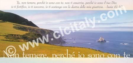 Cartolina formato panoramico con versetto Biblico - Non temere perché io sono con te