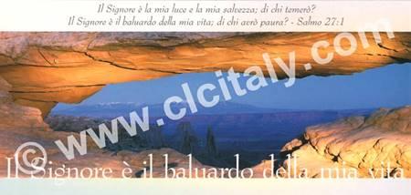 Cartolina formato panoramico con versetto Biblico - Il signore è il baluardo della mia vita