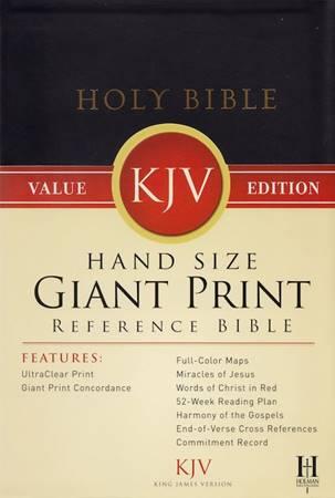 Hand Size Giant Print Reference Bible KJV (Similpelle)