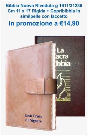 Copribibbia Similpelle con Laccetto + Bibbia g 1911 / 31236 Nuova Riveduta cm 11 x 17