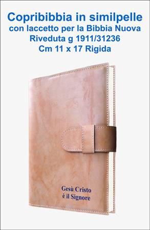 Copribibbia Similpelle con Laccetto per Bibbia cm 12 x 18,5 (Similpelle)
