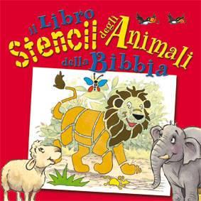 Il libro stencil degli animali della Bibbia (Cartonato)
