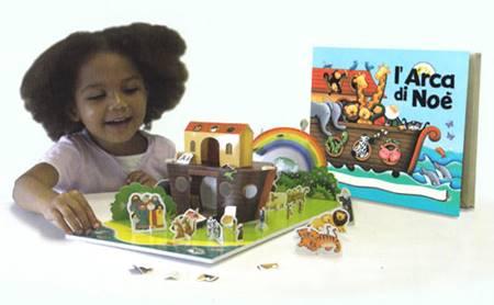 Costruisci con me l'arca di Noè - Libro + scenario PopUp (Scatola)