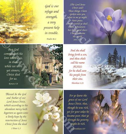 Scripture Greetings Cards - Cartoline con versetto biblico in inglese