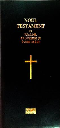 Nuovo Testamento con Salmi e Proverbi in Rumeno in Pelle (Pelle)
