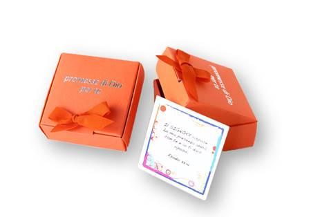 Promesse di Dio per te - Scatolina di Colore Arancio (Cartoncino)