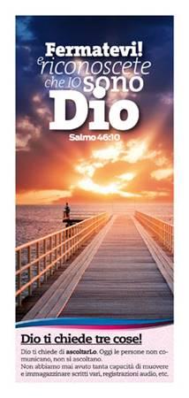 Dio ti chiede tre cose - 500 opuscoli (Volantino)