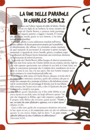 La fine delle parabole di Charles Schulz - Confezione da 500 opuscoli (Volantino)