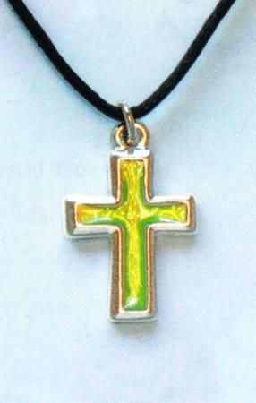 A1189 - Collana Croce in metallo che cambia colore