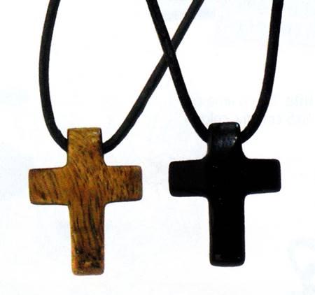 A1190 - Collana Croce in pietra