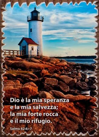 Quadretto in legno lavorato a mano Salmo 62:6-7