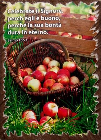 Quadretto in legno lavorato a mano Salmo 106:1