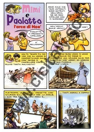Mimì e Paolotto - L'arca di Noè - 100 opuscoli (Volantino)