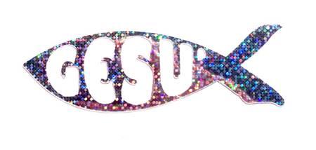 Adesivo Pesce Gesù Brillante