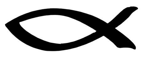 Adesivo Pesce colore nero