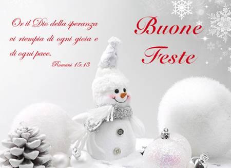 Biglietto con busta Buone Feste Omino di Neve Romani 15:13
