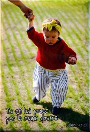 Magnete Calamita Bambina per mano Salmo 73:23