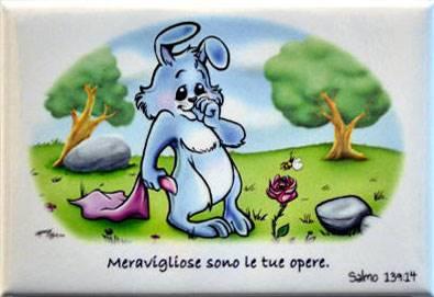 Magnete Calamita Coniglietto Salmo 139:14