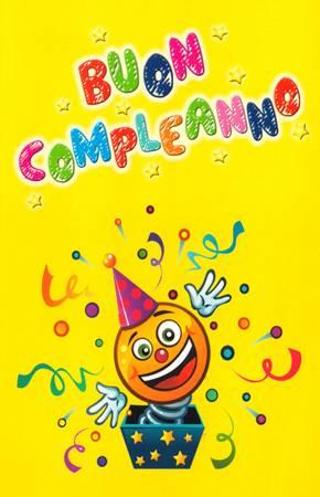 Biglietto Buon Compleanno Clown con Busta (Numero 6:24)