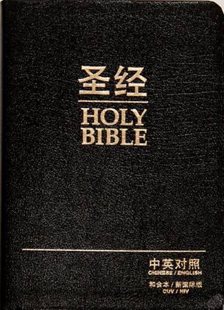 Bibbia Bilingue Cinese / Inglese in Pelle (Pelle)