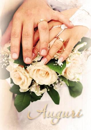 Biglietto per Matrimonio con busta Mani sposi antichizzato (CLCA 001)