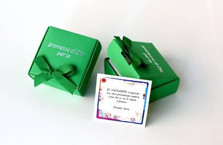 Promesse di Dio per te - Scatolina di Colore Verde (Cartoncino)