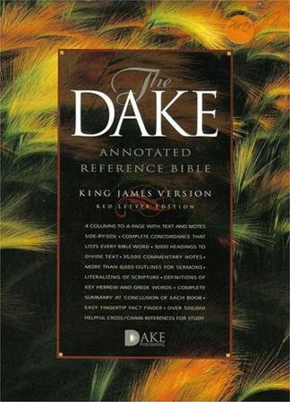 The Dake annotated reference Bible (KJV) - Bonded Leather Burgundy (Pelle)