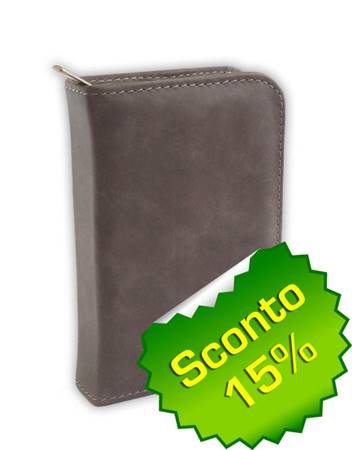 Copribibbia artigianale in pelle colore grigio Extra Small (50623)