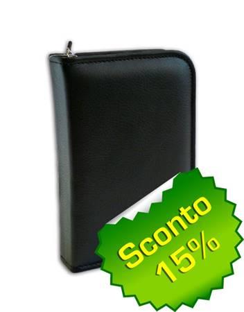 Copribibbia artigianale in pelle colore nero Extra Small (50621)