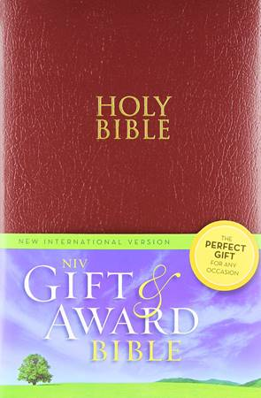 NIV Gift & Award Holy Bible Color Burgundy