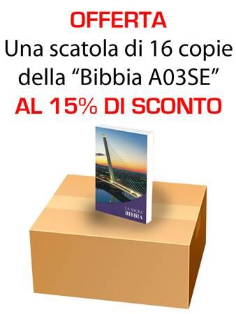 Offerta - Una scatola da 16 copie di Bibbie A03SE al 15% di sconto (Brossura) [Bibbia Media]