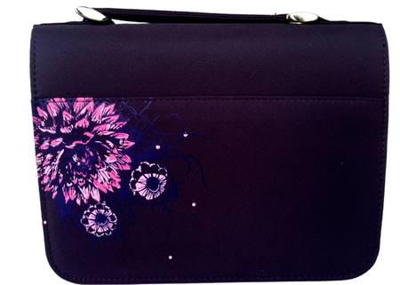 Copribibbia in nylon Amazing Grace grande - Viola fantasia a fiori (Stoffa)