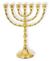 A1349 - Menorah in ottone - colore dorato