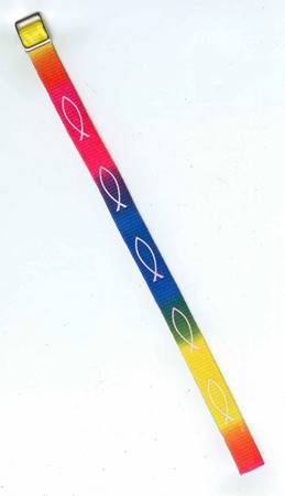 A51122 - Braccialetto Pesce arcobaleno in stoffa