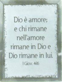 Quadretto in vetro 1 Giovanni 4:16 (A1205) [Quadro]