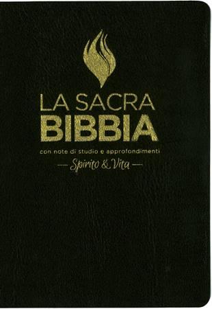 Bibbia da studio Spirito & Vita in Pelle Nera (Pelle)