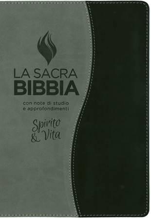 Bibbia da studio Spirito e Vita in Similpelle Bicolore Grigio/Nero (Similpelle)