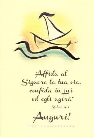 """Biglietti di auguri disegnati a mano """"Salmo 37:5"""""""