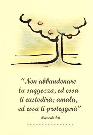 """Biglietti di auguri disegnati a mano """"Proverbi 4:6"""""""