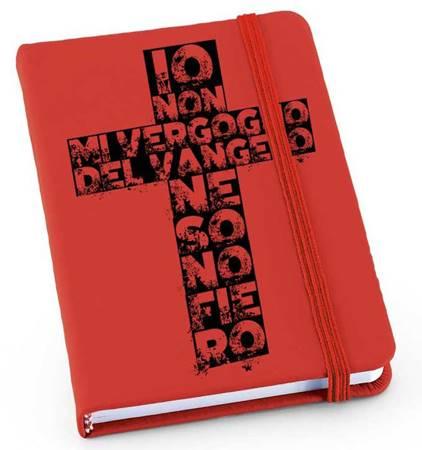 Quaderno Rosso Croce (Cartone con elastico)