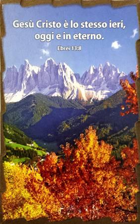 Quadretto in legno lavorato a mano Ebrei 13:8