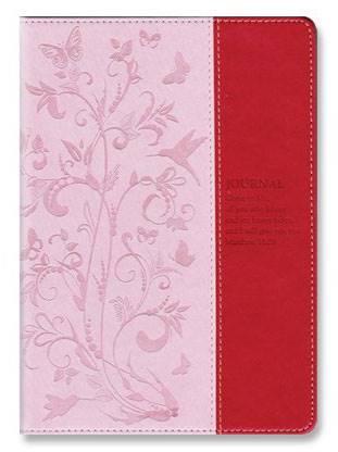 Quaderno Floral pattern Matthew 11:28 (Pelle)